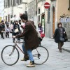 With a Bike in St.Croce Square