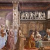 Big Renaissance frescoes: the celebration of the rich families of Florence in Santa Maria Novella and Santa Trinita by Ghirlandaio