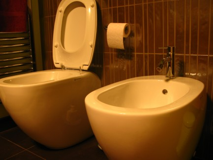 Bidet in Florence Italy Bathroom
