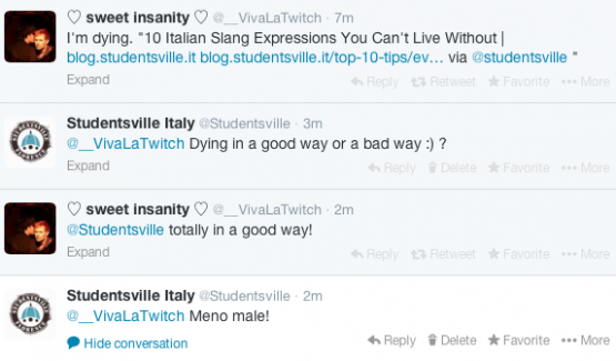 italian slang expressions on twitter