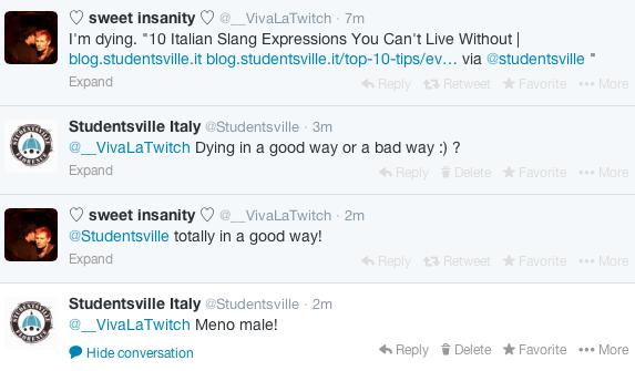 twitter conversation meno male