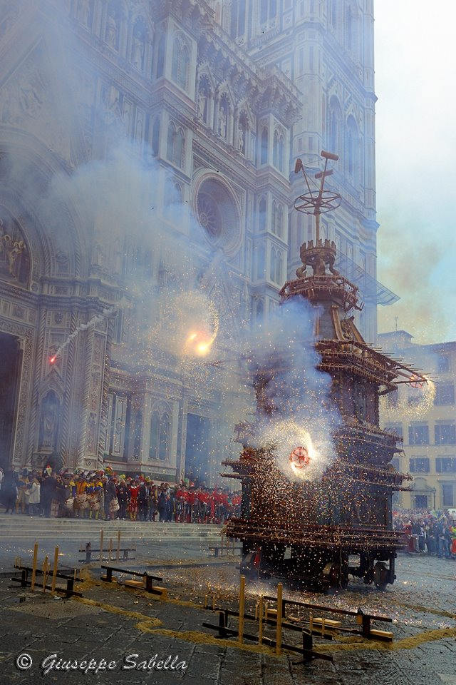 Exploding Easter Cart Florence Italy