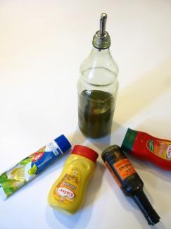 Condiments Salad Dressing Italian Olive Oil Mayonaise Mustard Ketchup