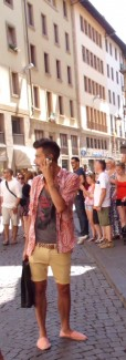 Italian Men's Fashion in Florence Italy
