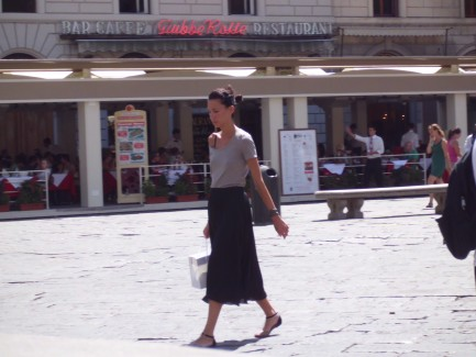 Summer Street Fashion In Florence Italy