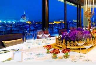 Sesto Restaurant on top of the Westin in Firenze