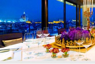 Sesto Restaurant on top of the Westin in Firenze
