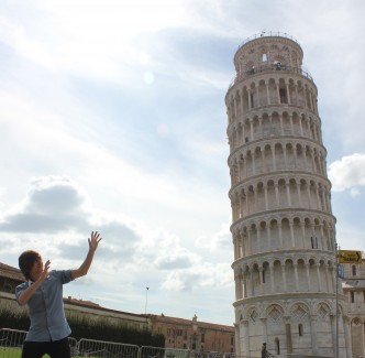 Tower of Pisa Pose