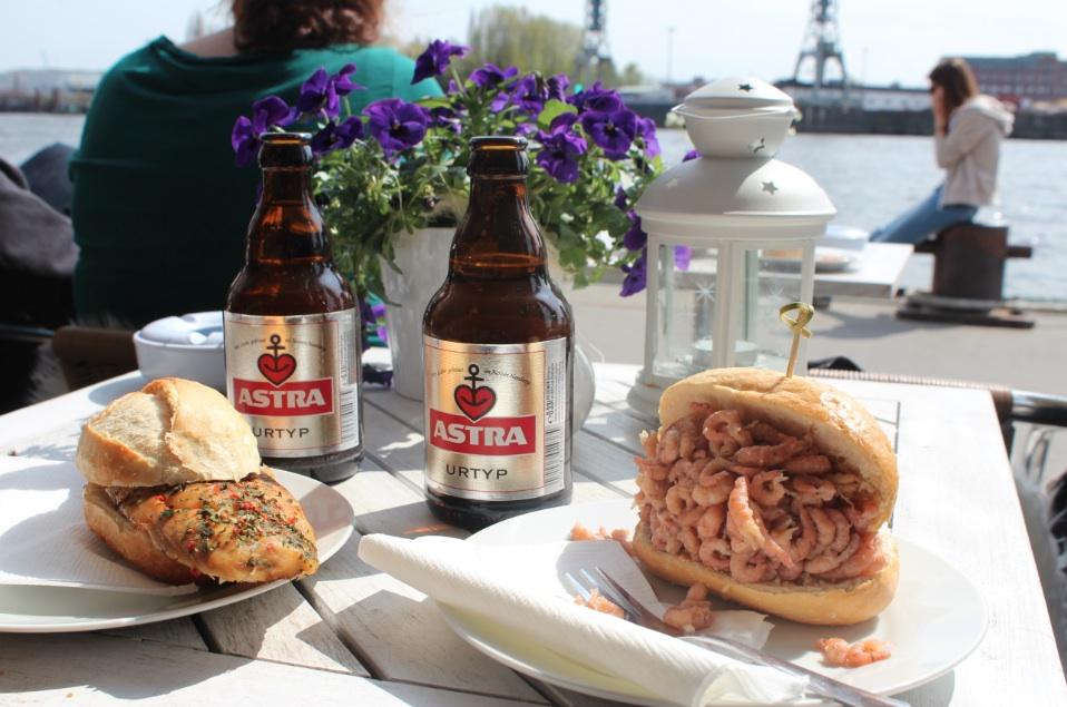 Hamburg Germany Pier 10 Astra Beer