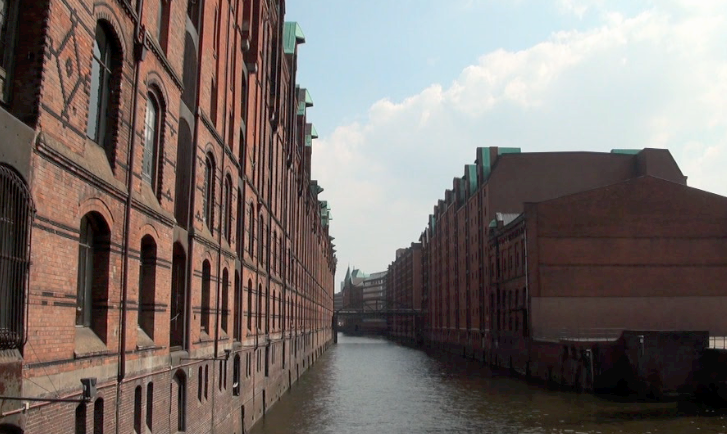 Canal in the Warehouse District Hamburg