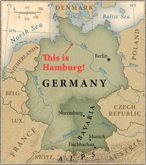 Hamburg Germany Map