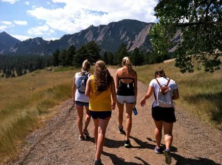 Boulder Flatiron mountains hike