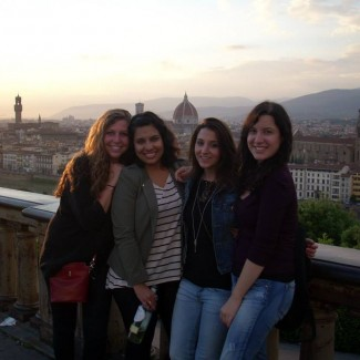 nina and friends sunset piazzale michelangelo