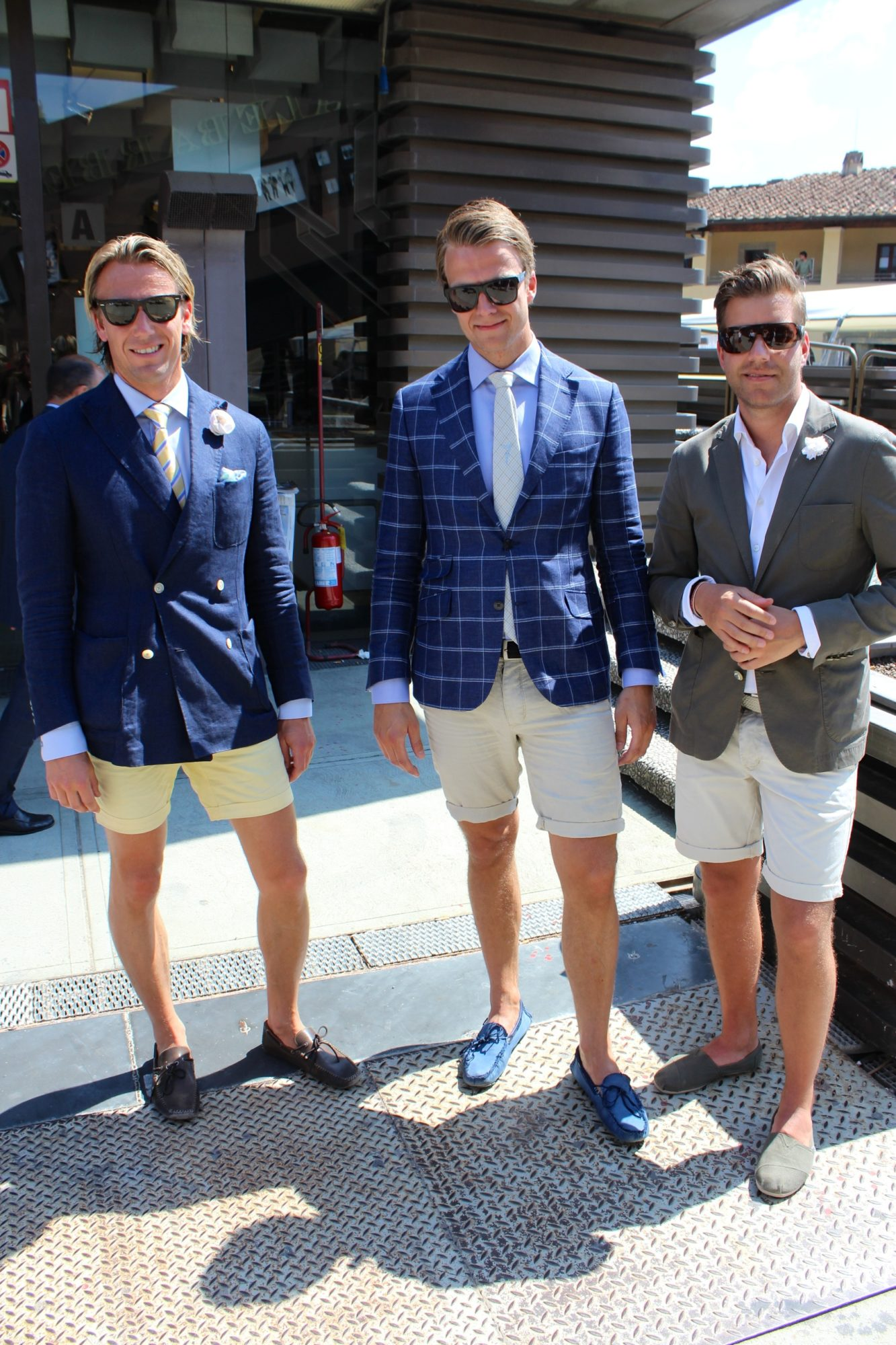 Men's Fashion Pitti Uomo 84 2013 Suit Jacket with Shorts