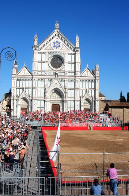 Calcio Storico Field at piazza Santa Croce