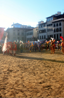 Calcio Storico Field after the game
