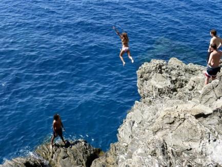rock jumping