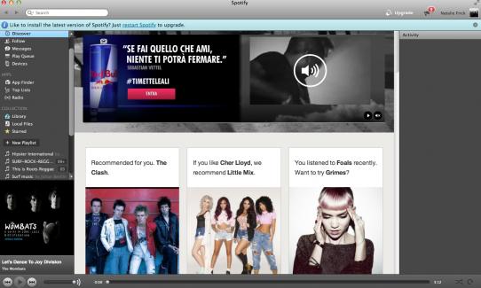 Spotify home screen