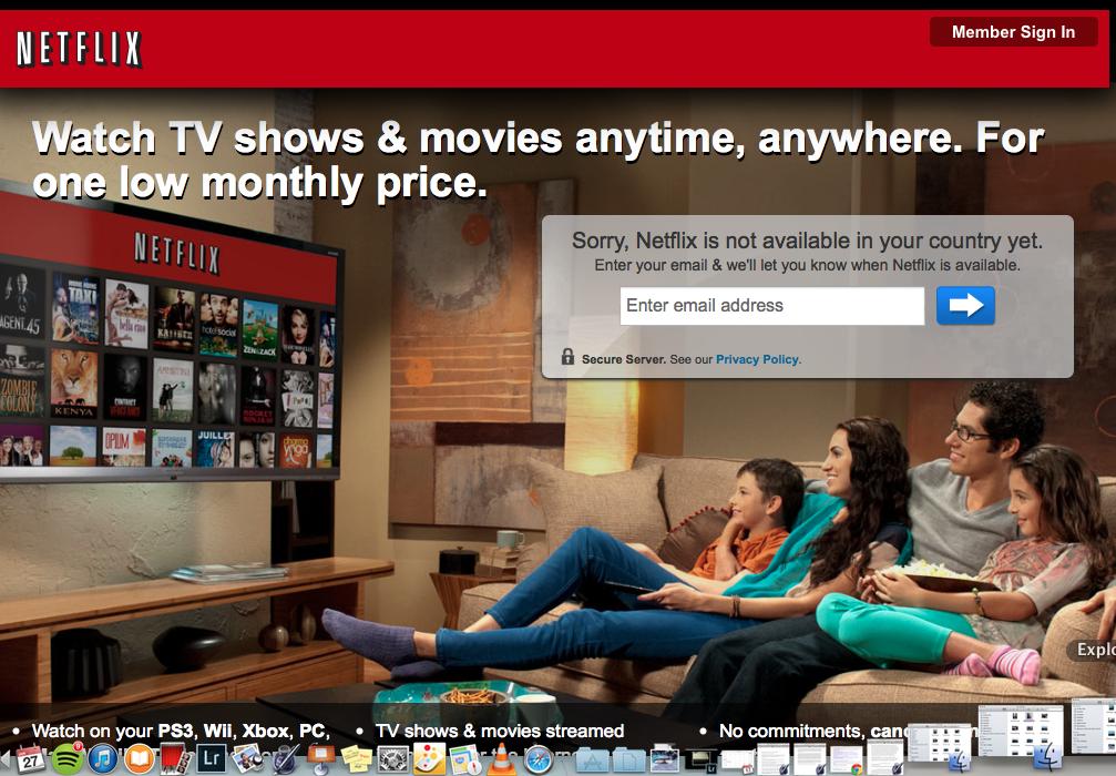 Netflix not in Italy Yet