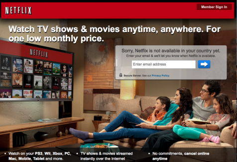 Accessing Netflix in Italy
