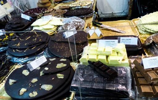 Chocolates with peanuts