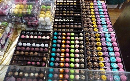 Italian colorful chocolates