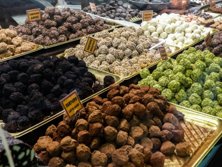 Chocolate truffles of Italy