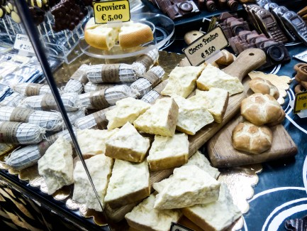 Chocolate in the shapes of cheese and bread