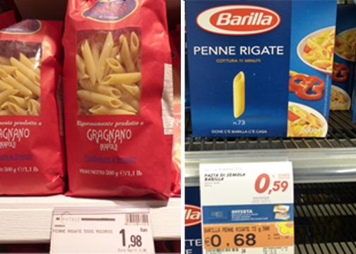Penne Pasta Comparison