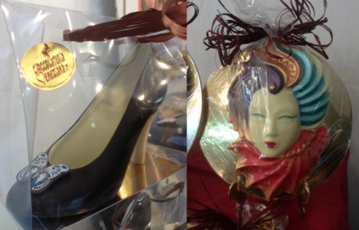 Artisan Chocolate Fair Mask and High Heels