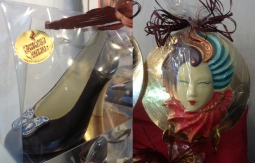 Artisan Chocolate Fair Mask and High Heels