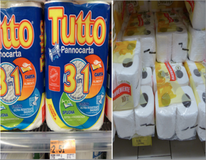 Toliet Paper in Conad vs COOP