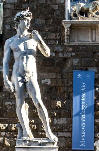 David Statue Copy Florence Italy