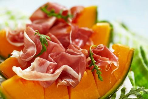 Prosciutto e Melone - A common Italian antipasto