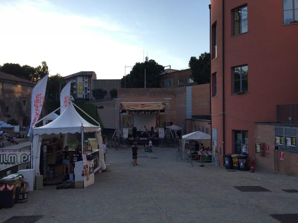 Palco Biografilm Festival parco del cavaticcio