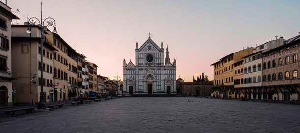 The Square of Santa Croce seen from the fountain