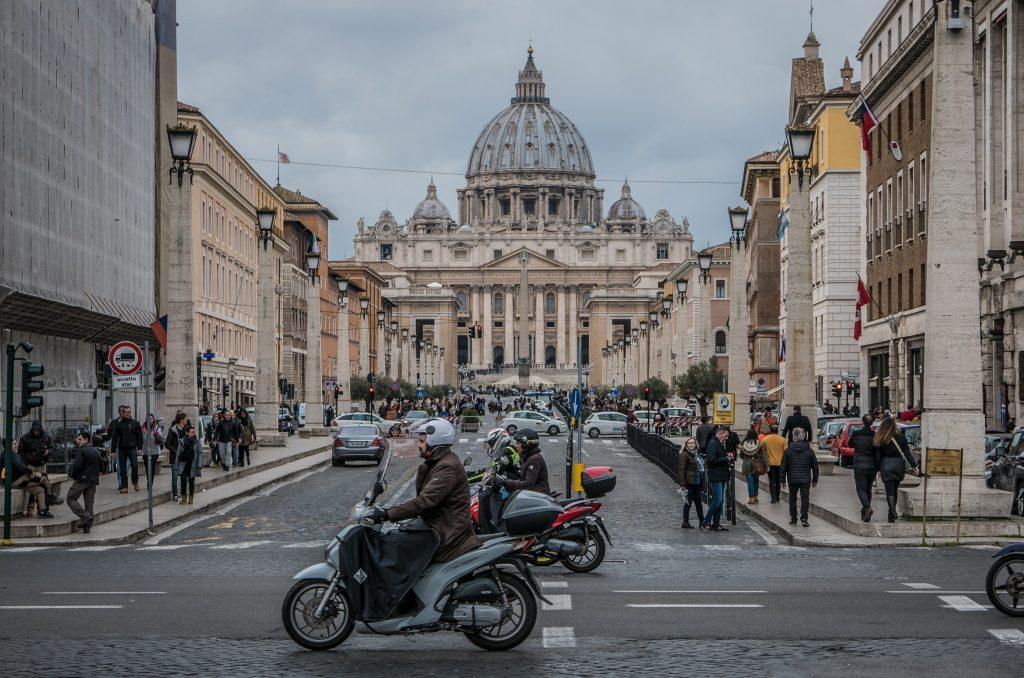 San Pietro Saint Peter Rome Winter
