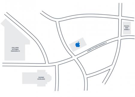 location apple store in milan