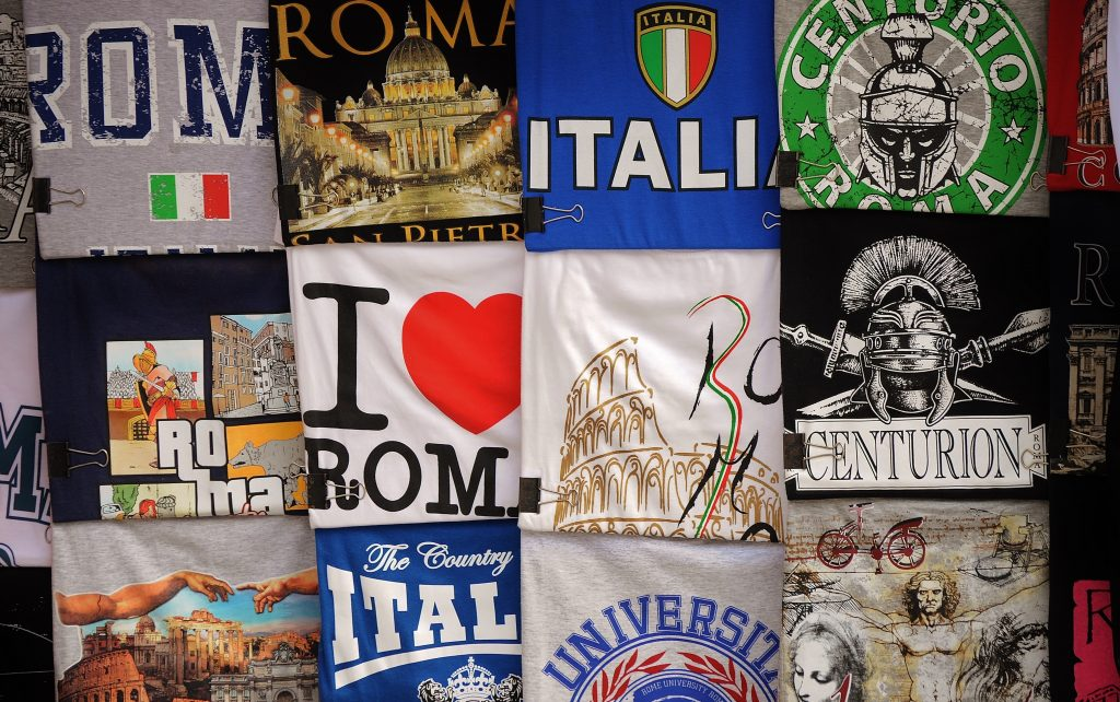 tshirts in rome