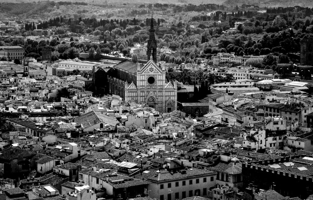 an empty Florence from above