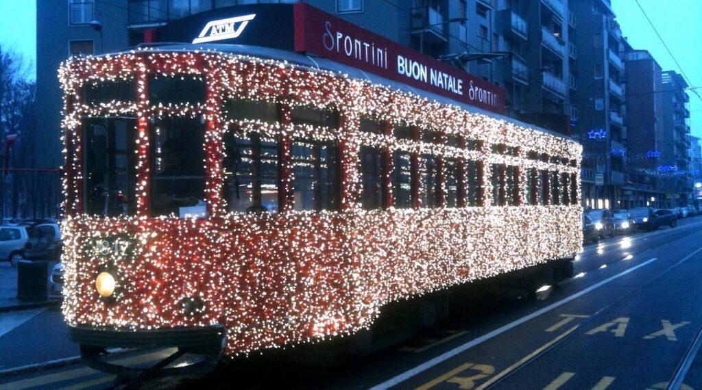 italian christmas tram milan