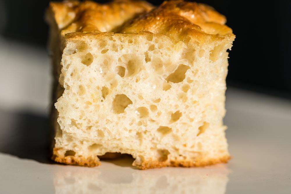 Italian types of bread focaccia