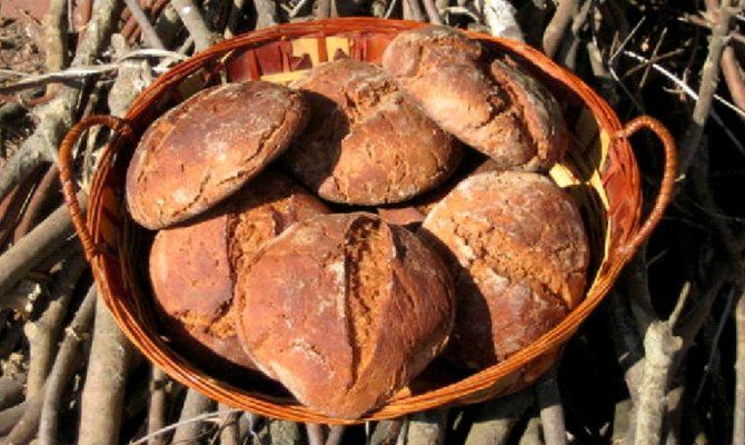 types of Italian bread marocca chestnut bread